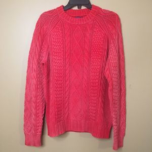 Polo Ralph Lauren Red Knit Sweater Antique Wash L
